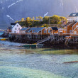 Scenic town Reine village, Lofoten islands, Norway — Stock Photo #78191346