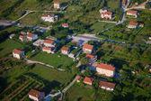 Tivat bird's-eye view. Montenegro. — Stock Photo