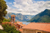 Roofs of houses in the town of Perast in Montenegro. — Stock Photo