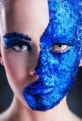 青い化粧 — ストック写真