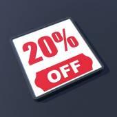 20 percent off — Stock Photo