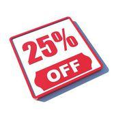 25 percent off — Stock Photo
