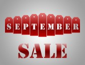 September sale — Stock Photo