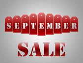 September sale — Stock Photo