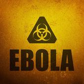 Ebola biohazard sign — Stock Photo
