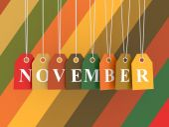 November tag — Stock Photo