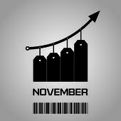 Prices rise in November — Stock Photo