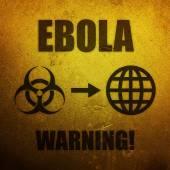 Ebola - warning global pandemic threat — Stock Photo