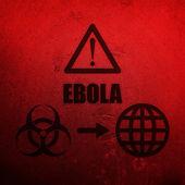 Ebola red background — Stock Photo