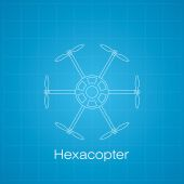 Hexacopter drawing — Stock Photo