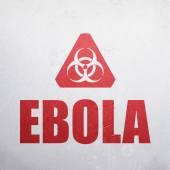 Ebola biohazard alert sign — Stock Photo