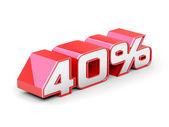 40 Percent off — Stock Photo