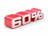 60 Percent off — Stock Photo