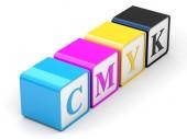 CMYK cubes — Stock Photo