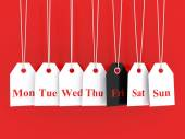 Black friday promotions — Stock Photo