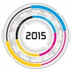 2015 CMYK circular calendar — Stock Photo #60253241
