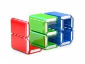 RGB LED symbol — Stock Photo