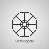 Octocopter symbol — Stock Photo