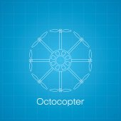 Octocopter drawing — Stock Photo