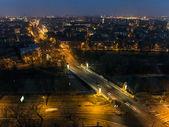 Night cityscape - european city — Stock Photo