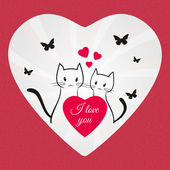 Valentines Day couple of lovers cats — Stock Photo