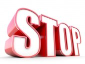 Stop - big red tag — Stock Photo