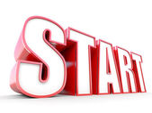 Start - 3D tag — Stock Photo