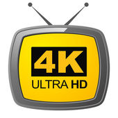 4K Ultra HD television — Stock Photo