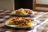 Italian spaghetti — Stock Photo
