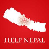 Help Nepal — Stock Photo