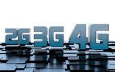 Mobile network speed symbols — Stock Photo