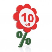 10 percent off — Stock Photo