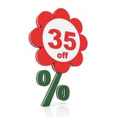 35 percent off — Stock Photo