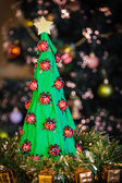 Handmade paper christmas tree — Stock Photo