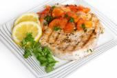 Marlin steak meal — Stock Photo