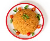 Bulgur pilaf from above — Stock Photo