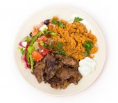 Turkish roast lamb meal — Stock Photo