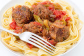 Meatballs meal — Stock Photo