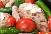 Roast chicken mediterranean style — Foto de Stock