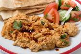 Circassian chicken meal closeup — Stock Photo