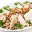 Lebanese chicken and spiced rice with nuts and parsley — Stock Photo #57548741