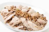 Lebanese chicken spiced rice angled — Stock Photo