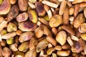 Freshly toasted nuts — Stock Photo