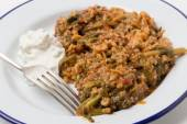 Turkish mince and spinach — Stock Photo