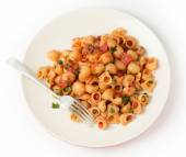 Pasta elbows arrabbiata from above — Stock Photo