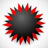 Simple explosion shape — Stock Vector