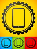 Smartphone with gears — Stock Vector
