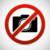 Camera and prohibit sign — Stock Vector