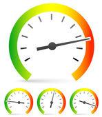 Speedometer or general gauge — Stock Vector