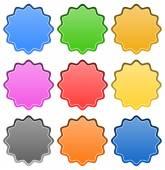 Starburst - badge shapes — Stockvektor